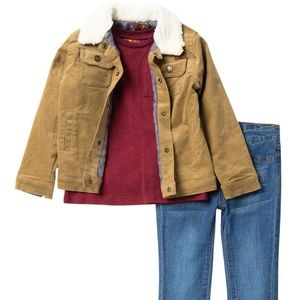 7 For All Mankind 3 pc set boys New 4T Jeans, tee